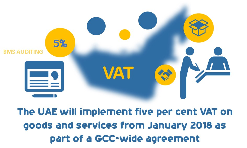 The UAE will implement five per cent VAT on goods and services from January 2018 as part of a GCC-wide agreement