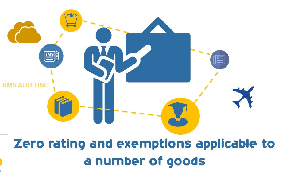 Zero rating and exemptions applicable to a number of goods